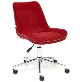 Компьютерное кресло STYLE флок , бордовый, 10 TetChair, Цвет товара: бордовый