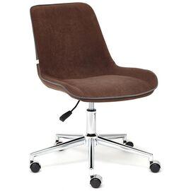 Компьютерное кресло STYLE флок , коричневый, 6 TetChair, Цвет товара: Коричневый (6)
