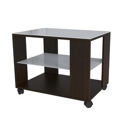 Стол журнальный BeautyStyle 5 Mebelik Венге/Белое стекло 650х450х560, Цвет товара: Венге/Белое стекло