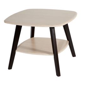 Журнальный стол Хадсон  Mebelik дуб белёный/венге 650х650х500