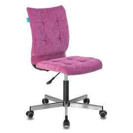 Компьютерное кресло Бюрократ CH-330M/LT-15 без подлокотников малиновый крестовина металл, Цвет товара: Малиновый /Хром