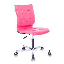 Компьютерное кресло Бюрократ CH-330M/PINK без подлокотников розовый Lincoln 205 искусственная кожа крестовина металл, Цвет товара: Розовый Lincoln 205