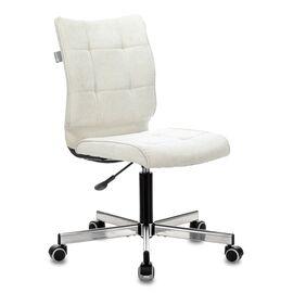 Компьютерное кресло Бюрократ CH-330M/Velvet 20 молочный крестовина металл, Цвет товара: молочный Velvet 20
