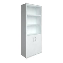 Шкаф для документов высокий широкий (2 низкие двери ЛДСП) RIVA А.СТ-1.1 Белый 770х365х1980, Цвет товара: Белый