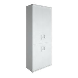 Шкаф для документов высокий широкий (2 низкие двери ЛДСП, 2 средние двери ЛДСП) RIVA А.СТ-1.3 Белый 770х365х1980, Цвет товара: Белый