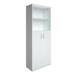Шкаф для документов высокий широкий (2 средние двери ЛДСП) RIVA А.СТ-1.6 Белый 770х365х1980, Цвет товара: Белый