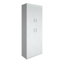 Шкаф для документов высокий широкий (2 средние двери ЛДСП, 2 низкие двери ЛДСП) RIVA А.СТ-1.8 Белый 770х365х1980, Цвет товара: Белый