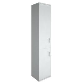 Шкаф для документов высокий узкий левый (1 низкая дверь ЛДСП, 1 средняя дверь ЛДСП) RIVA А.СУ-1.3Л Белый 404х365х1980, Цвет товара: Белый