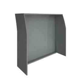Стойка ресепшен прямая 1200 RIVA А.РС-2 Серый 1244х506х1150, Цвет товара: Серый