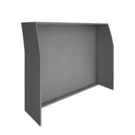 Стойка ресепшен прямая RIVA 1400 А.РС-3 Серый 1444х506х1150, Цвет товара: Серый