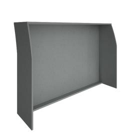 Стойка ресепшен прямая RIVA 1600 А.РС-4 Серый 1644х506х1150, Цвет товара: Серый