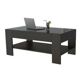 Стол журнальный BeautyStyle 26 Mebelik Венге/Черное стекло 1100х600х460, Цвет товара: Венге/Черное стекло