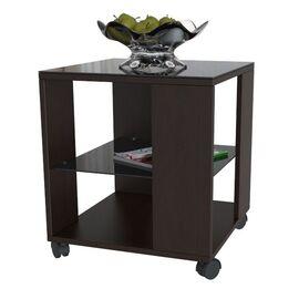 Стол журнальный BeautyStyle 6 Mebelik Венге/Черное стекло 450х450х560, Цвет товара: Венге/Черное стекло