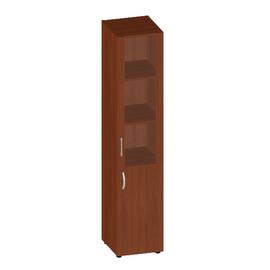 Шкаф для документов узкий низкой дверью и стеклом в МДФ Консул арт. KN-6.1.5 400х430х1945