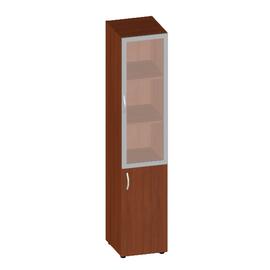 Шкаф для документов высокий узкий с дверью и матовым стеклом Консул арт. KN-6.1.6 400х430х1945