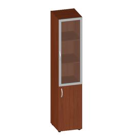 Шкаф для документов высокий с низкой дверью со стеклом сатин Консул арт. KN-6.1.7 400х430х1945