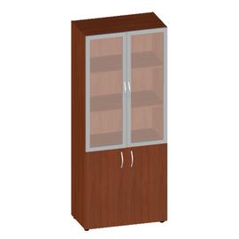 Шкаф для документов высокий низкими дверьми с матовым стеклом Консул арт. KN-6.5 800х430х1945
