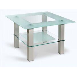 Стол журнальный Кристалл 1 Mebelik Алюминий 750х750х500, Цвет товара: серебристый