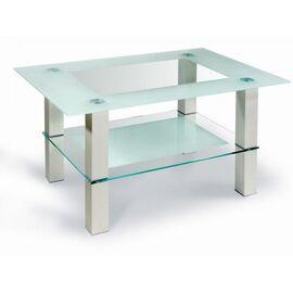 Стол журнальный Кристалл 2 Mebelik Алюминий 900х600х500, Цвет товара: серебристый