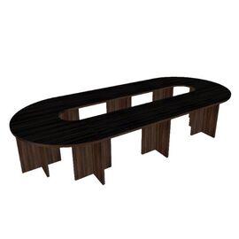 Стол для переговоров в кабинет руководителя сборный Форум арт. FR-1.41 4700х1900х750, Цвет товара: Венге