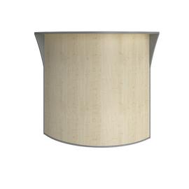 Стойка угловая (радиусный элемент - ХДФ) RIVA А.РС-5 Клен Металлик 950х950х1150, Цвет товара: клен металлик