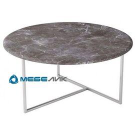 Стол журнальный Маджоре Mebelik Серый мрамор 800х800х390, Цвет товара: Серый мрамор