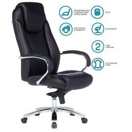 Компьютерное кресло для руководителя Бюрократ T-9923SL/BLACK черный кожа крестовина хром, Цвет товара: Черный/Х