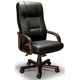 Компьютерное кресло для руководителя BONN A LX Мирэй Групп (Кожа Люкс черного цвета )