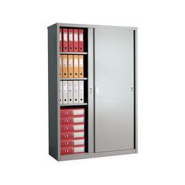 Архивный шкаф для офиса ПРАКТИК AMT 1812, Цвет товара: Серый