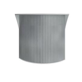 Стойка угловая (радиусный элемент - ролета) RIVA А.РС-5.5 Белый 950х950х1150, Цвет товара: Белый