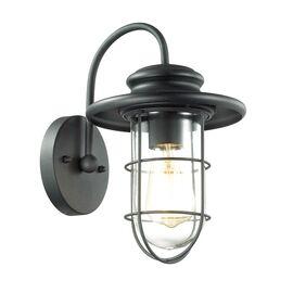 Уличный настенный светильник Helm Черный Odeon Light