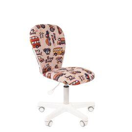 Компьютерное кресло для детской комнаты Chairman KIDS 105 белый пластик (Автобус), Цвет товара: Автобус