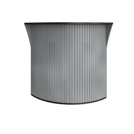 Стойка угловая (радиусный элемент - ролета) RIVA А.РС-5.5 Венге Металлик 950х950х1150, Цвет товара: Венге металлик
