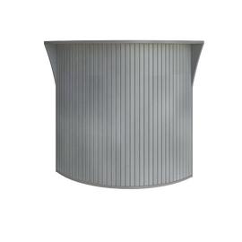 Стойка угловая (радиусный элемент - ролета) RIVA А.РС-5.5 Серый 950х950х1150, Цвет товара: Серый