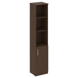 Шкаф высокий узкий для документов (1 низкая дверь ЛДСП) NOVA S В.СУ-1.1Пр Венге 388х360х1915, Цвет товара: Венге