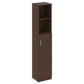 Шкаф высокий узкий для документов (1 средняя дверь ЛДСП) NOVA S В.СУ-1.6Пр Венге 388х360х1915, Цвет товара: Венге