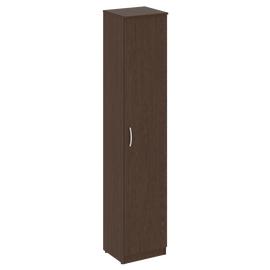 Шкаф высокий узкий для документов (1 высокая дверь ЛДСП)NOVA S В.СУ-1.9Пр Венге 388х360х1915, Цвет товара: Венге