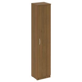 Шкаф высокий узкий для документов (1 высокая дверь ЛДСП)NOVA S В.СУ-1.9Пр Орех Гварнери 388х360х1915, Цвет товара: Орех