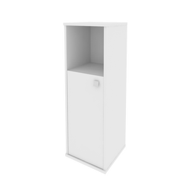 Шкаф средний узкий для документов левый (1 низкая дверь ЛДСП) STYLE Л.СУ-2.1Л Белый 412х410х1215, Цвет товара: Белый