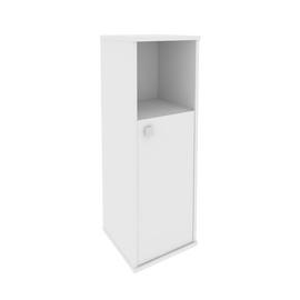 Шкаф средний узкий для документов правый (1 низкая дверь ЛДСП)STYLE Л.СУ-2.1Пр Белый 412х410х1215, Цвет товара: Белый