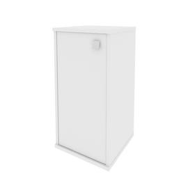 Шкаф низкий узкий для документов левый (1 низкая дверь ЛДСП) STYLE Л.СУ-3.1Л Белый 412х410х828, Цвет товара: Белый