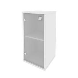 Шкаф низкий узкий для документов левый STYLE Л.СУ-3.2 Белый 412х410х828, Цвет товара: Белый