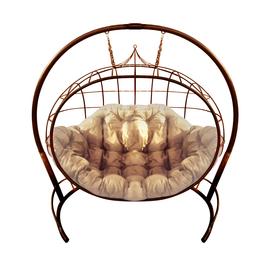 """Кресло подвесное """"Улей"""" ЦВЕТ: Коричневый; ПОДУШКА: БЕЖЕВАЯ, Цвет товара: коричневый/бежевый"""