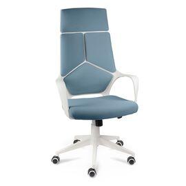 Кресло офисное Norden IQ / (White plastic blue) белый  пластик / голубая ткань, Цвет товара: Голубой