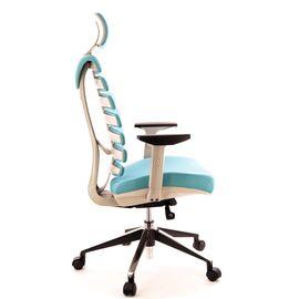Компьютерное кресло для руководителя Everprof Ergo Grey ткань бирюзовый, Цвет товара: Бирюзовый, изображение 2