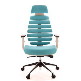 Компьютерное кресло для руководителя Everprof Ergo Grey ткань бирюзовый, Цвет товара: Бирюзовый, изображение 3