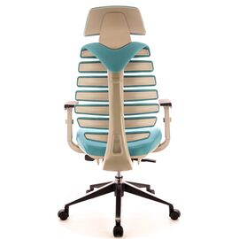 Компьютерное кресло для руководителя Everprof Ergo Grey ткань бирюзовый, Цвет товара: Бирюзовый, изображение 4