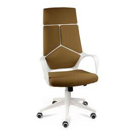 Кресло офисное Norden IQ / (White plastic-mustard ) белый  пластик / горчичная ткань, Цвет товара: Горчичный