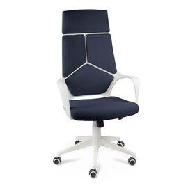Кресло офисное Norden IQ / белый  пластик / темно-синяя ткань, Цвет товара: темно-синий
