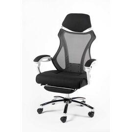 Кресло офисное Norden 007 / (black (white plastic) белый пластик / черная ткань / черная сетка, Цвет товара: Белый